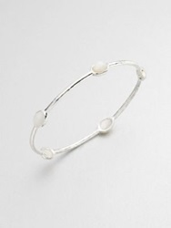 Ippolita Rock Candy Mother 0F Pearl And Sterling Silver Five Stone Bangle Bracelet Silver White