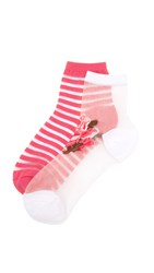 Kate Spade Rosa Sheer Sock Set White