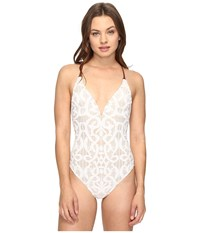 Nanette Lepore Coachella Valley Crochet Mio One Piece Ivory Women's Swimsuits One Piece White