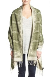 Junior Women's David And Young Houndstooth And Check Blanket Scarf