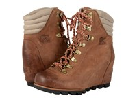 Sorel Conquest Wedge Elk Women's Lace Up Boots Brown