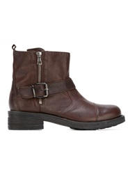 P.A.R.O.S.H. Buckled Ankle Boots Brown