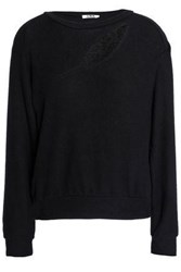 Lna Cutout Brushed Stretch Tencel Sweatshirt Black