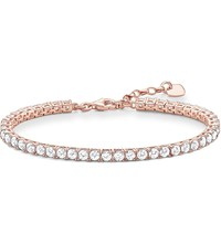 Thomas Sabo Rose Gold Plated Zirconia Tennis Bracelet