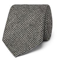 Altea 8Cm Nilo Puppytooth Wool And Cashmere Blend Tie Gray