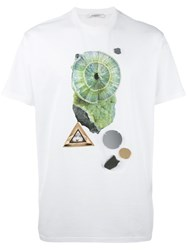 Givenchy Embroidered Crystal Print T Shirt White