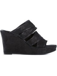 The Last Conspiracy Wedge Mules Black