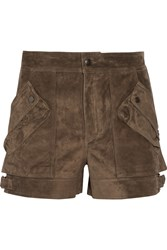 Helmut Lang Suede Shorts Dark Brown