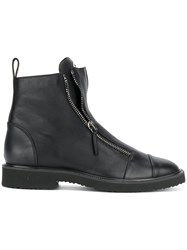 Giuseppe Zanotti Design Jerome Ankle Boots Leather Rubber Black