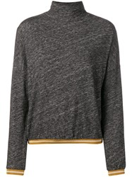 Bellerose Turtle Neck Fitted Sweater Grey