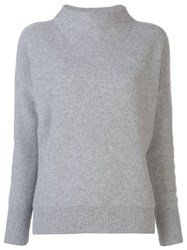 Vince Cashmere Mock Neck Jumper Grey