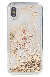 Rebecca Minkoff Grl Pwr Glitterfall Iphone X Case Pink Rose Gold