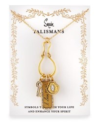 Sequin I Love You Talisman Charm Necklace Gold