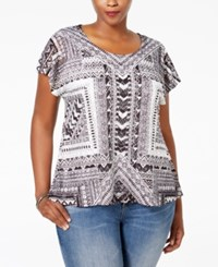 Styleandco. Style And Co. Plus Size Cap Sleeve Crocheted Overlay Blouse Only At Macy's Wispy Lines