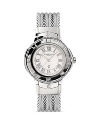Charriol Celtic Large Round Steel Bracelet Watch 38Mm Silver