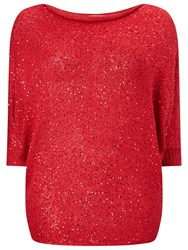 Studio 8 Shawna Sequin Jumper Red