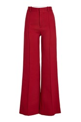 See By Chloe Wide Leg Pants With Cotton Red