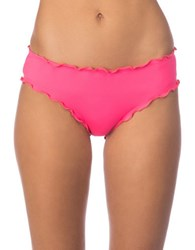 Kenneth Cole Reaction Frill Of It Scalloped Cheeky Bottom Coral
