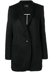 Isabel Marant Single Breasted Fitted Coat Black