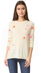 Chinti And Parker Slouchy Star Cashmere Sweater Cream Multi