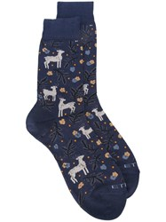 Etro Christmas Socks Blue