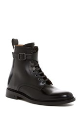 George Brown Fulton Lace Up Buckle Boot Black