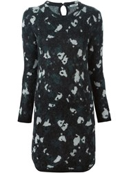 Cacharel Intarsia Knit Fitted Dress