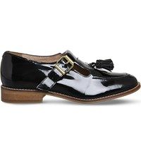 Office Dolly Leather Flats Black Patent Leather