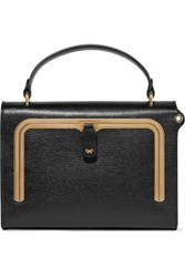 Anya Hindmarch Postbox Small Textured Leather Tote Black