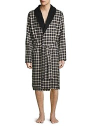 Ugg Kalib Plaid Robe Black