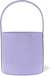 Staud Bissett Patent Leather Bucket Bag Lavender