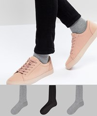 Asos Waffle Socks In Colours 3 Pack Multi