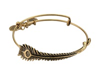 Alex And Ani Peacock Feather Wrap Rafaelian Gold Finish Bracelet