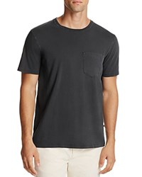 Billy Reid Washed Cotton Pocket Tee Black