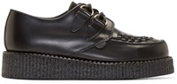 Underground Black Leather Wulfrun Creepers