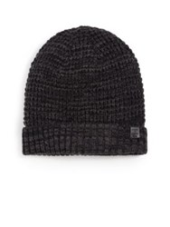 Bickley And Mitchell Faux Sherpa Lined Thermal Cuff Beanie Navy Black