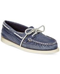 Sperry Women's Authentic Original Washed Canvas Boat Shoes Women's Shoes Navy