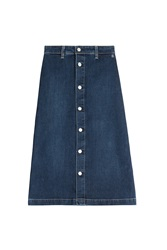 Alexa Chung For Ag Cool Denim Skirt Blue