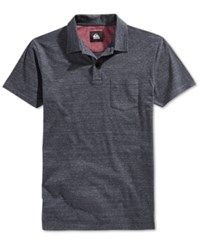 Quiksilver Men's Martini Heathered Polo Navy