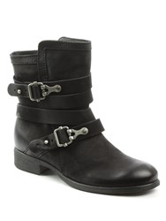 Daniel Meghan Double Buckle Ankle Boots Black