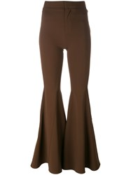 Givenchy Exaggerated Flare Trousers Brown