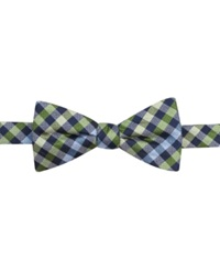Countess Mara Multi Gingham Pre Tied Bow Tie Green