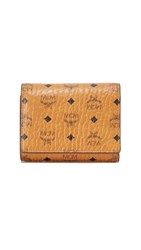 Mcm Small Trifold Wallet Cognac