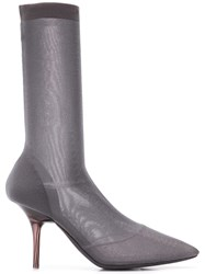 Yeezy Transparent Ankle Boots Grey
