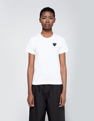 Comme Des Garcons Black Heart Play T Shirt White