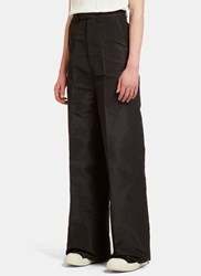Rick Owens Astaires Oxford Wide Leg Flared Pants Black