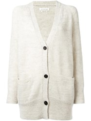 Etoile Isabel Marant Clawson Relaxed Cardigan Nude Neutrals