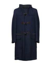 Umit Benan Coats Dark Blue