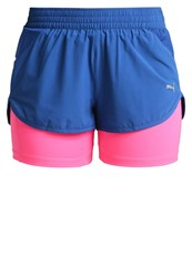 Puma Blast 2In1 Sports Shorts True Blue Knockout Pink