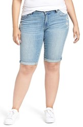 Lucky Brand Plus Size Women's Ginger Denim Roll Cuff Bermuda Shorts Withered